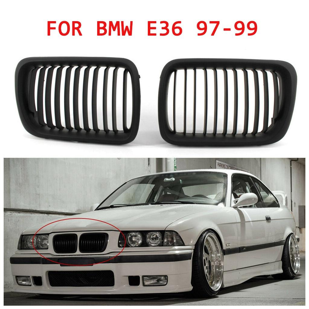 Rejilla frontal negra brillante para BMW E36 1997-1999 3 Series