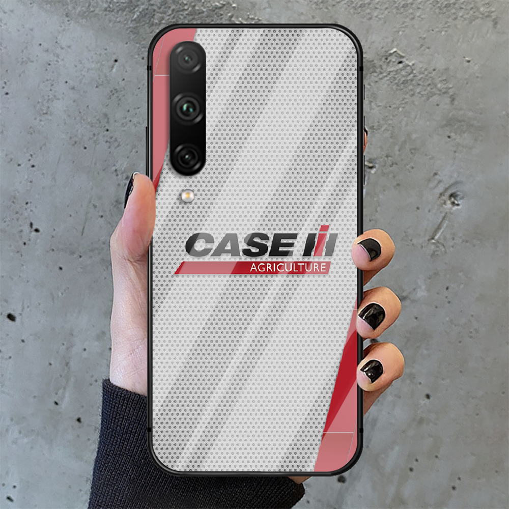 CASE IH Tractor Logo Phone Tempered Glass Case Cover For huawei honor 7 8 9 10 20 A X S lite i pro Painting Soft Cell Black  - buy with discount