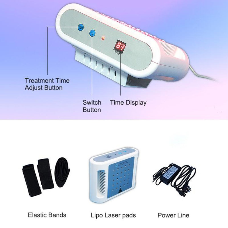 جهاز شفط الدهون بالليزر الصغير لفقدان الوزن ، جهاز التخسيس باستخدام الليزر ، 650 نانومتر ، جهاز شفط الدهون ، للاستخدام المنزلي
