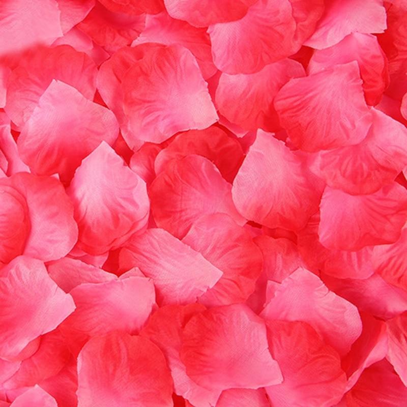2000 pcs kelopak bunga mawar buatan kelopak bunga aksesori - Aksesori perkahwinan - Foto 3