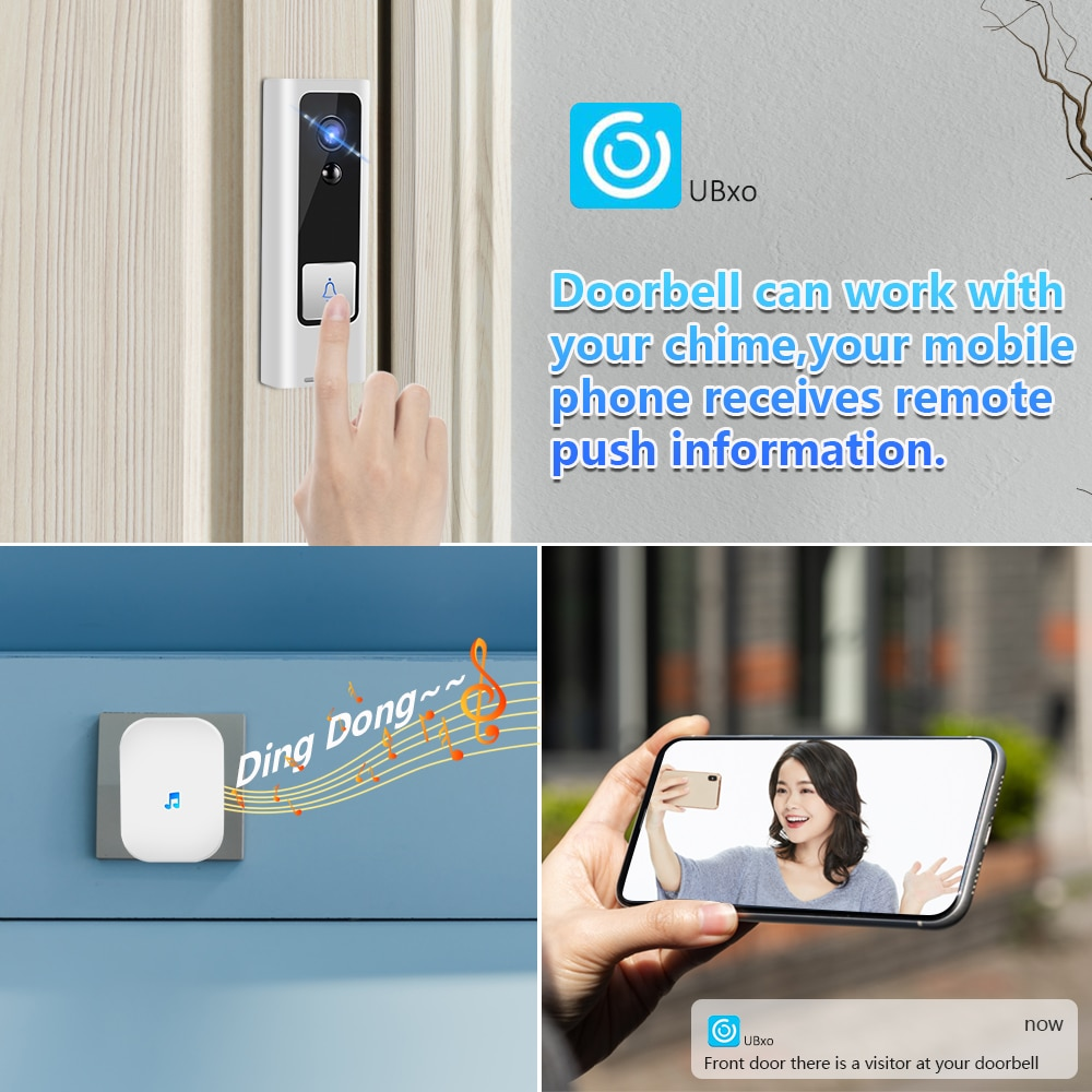 Smart Video Doorbell Camera WiFi Wireless Door Phone Home Door Bell Audio Intercom Security Camera PIR Motion Alarm Baby Monitor enlarge