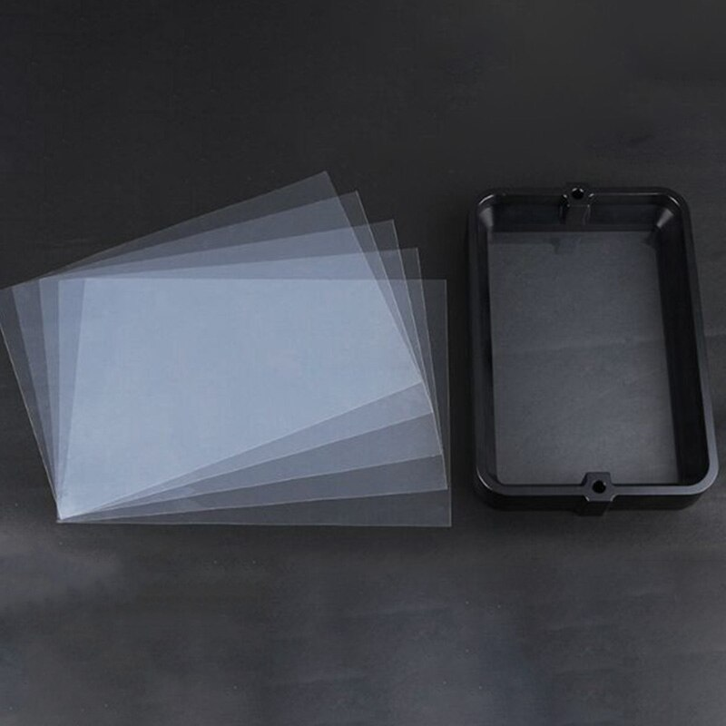 Material Rack negro 178x120Mm con 5 uds película FEP para DLP SLA Wanhao D7 3D impresora anodizada resina de aluminio anillo de acero IVA