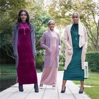 open dubai abaya turkey hijab muslim kimono cardigan coat mujer islam clothing african dresses abayas for women knitted sweater