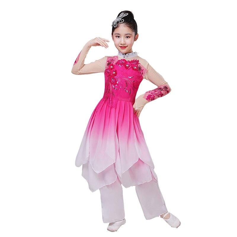 Vestido de danza folclórica de los niños del traje chino antiguo de la danza clásica de la muchacha Yangko