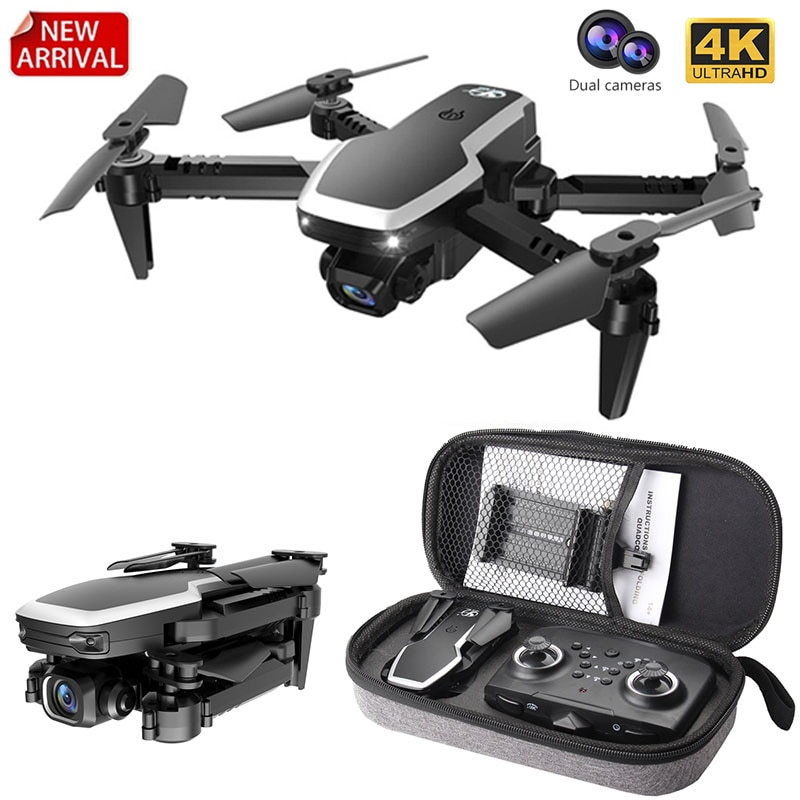S171 Pro Fpv Mini Drone 4k HD Dual Camera 2.4G RC Quadcopter Altitude Hold Coreless Motor Wifi Foldable Drones With Cameras Dron