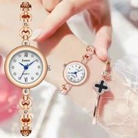 luxury diamond women fashion bracelet watches snowflake dial design elegant silver ladies quartz wristwatches rose gold clock
