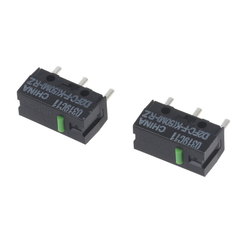 2Pcs Original OMRON Mouse Micro Switch D2FC-F-K(50M)-RZ Green Dot 50 Millions click lifetime for Razer Micro Switch omron mouse micro switch d2f f 3 7 button suitable for 10m 20m 50m steelseries sensei 310 g304 g305 g602 g900 g903 free shipping