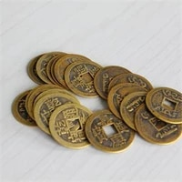 10pcslot 23mm new chinese feng shui lucky chingancient coins set educational ten emperors antique fortune money