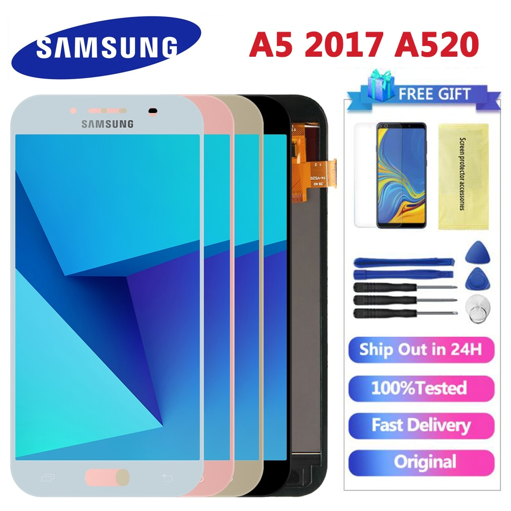 Voor Samsung Galaxy A5 2017 A520F SM-A520F A520 Lcd Touch Screen Digitizer Glas Montage Vervangende Onderdelen