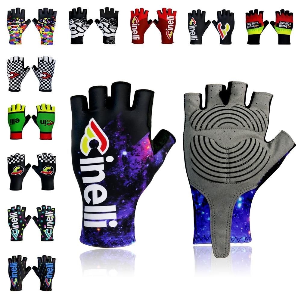 Guantes de medio dedo para ciclismo, manoplas antideslizantes de varios estilos para...