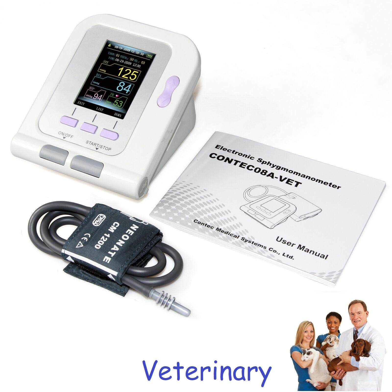 Electronic Sphygmomanometer Digital Blood Pressure Veterinary Vet Use Monitor CONTEC08A Pets Dog Cat