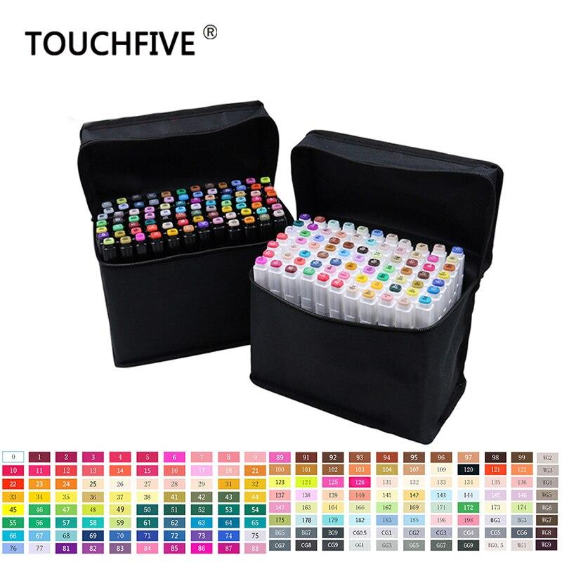 Rotulador TouchFive 30 40 60 80 168, juego de colores a base de alcohol, juego de marcadores artísticos, lo mejor para Manga, rotuladores de dibujo de dos cabezas