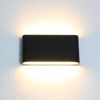Applique murale LED en aluminium et verre mat  impermeable conforme a la norme IP65  luminaire decoratif  ideal pour un jardin ou une veranda  6 12W  AC90-260V