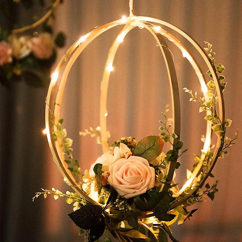 Купить с кэшбэком 1/5pcs Catcher Ring Embroidery Hoop Wind Chime Bamboo Circle Wooden DIY Art Craft Cross Stitch Tools flower wreath Hanging home