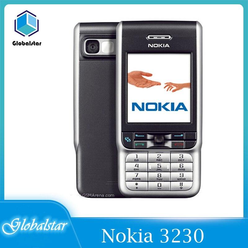 هاتف نوكيا 3230 أصلي مجدد 3230 قابل للدوران 2.1 بوصة GSM 3G سيمبيان 7.0s مع راديو FM شحن مجاني