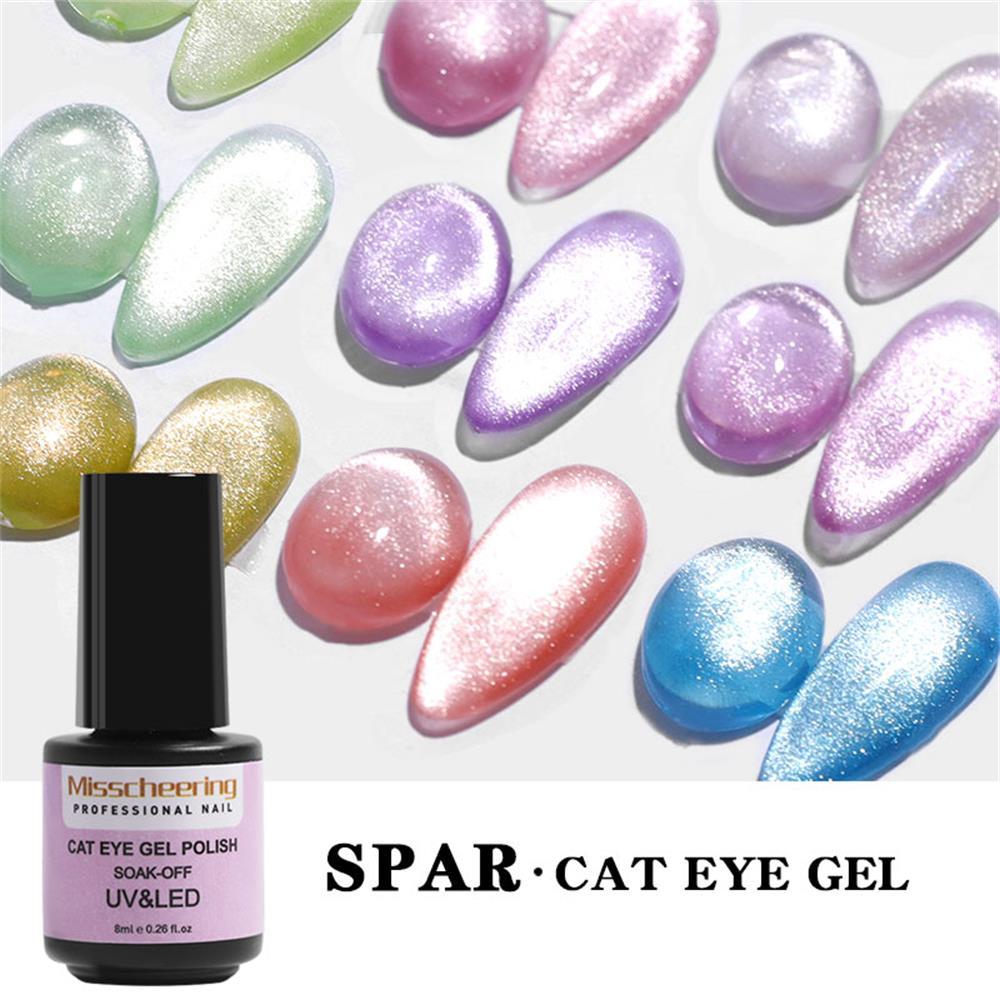 Гель-лак для ногтей «кошачий глаз» 9D, лазерные магнитные Лаки, отмачиваемые УФ-светодиодные мерцающие магнитные Лаки, блестящие лаки для кр...