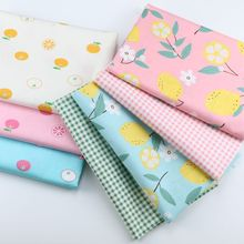 160cm*50cm  Fruit lemon Newborn baby kids Cotton Fabric Printed Cloth Sewing Quilting bedding appare