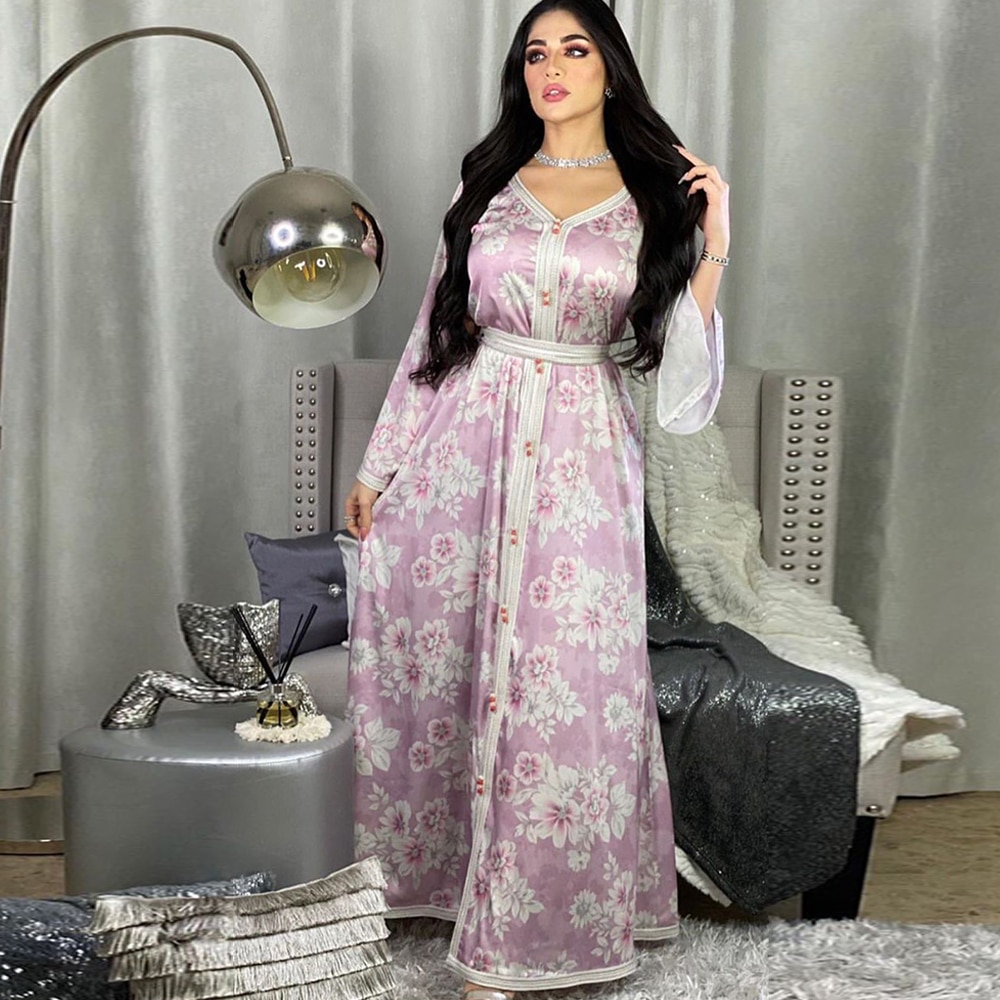عباية دبي تركيا ستان مسلم الحجاب فستان قفطان الإسلام الملابس الأمريكية ماكسي فساتين عبايات للنساء Vestidos رداء Musulman
