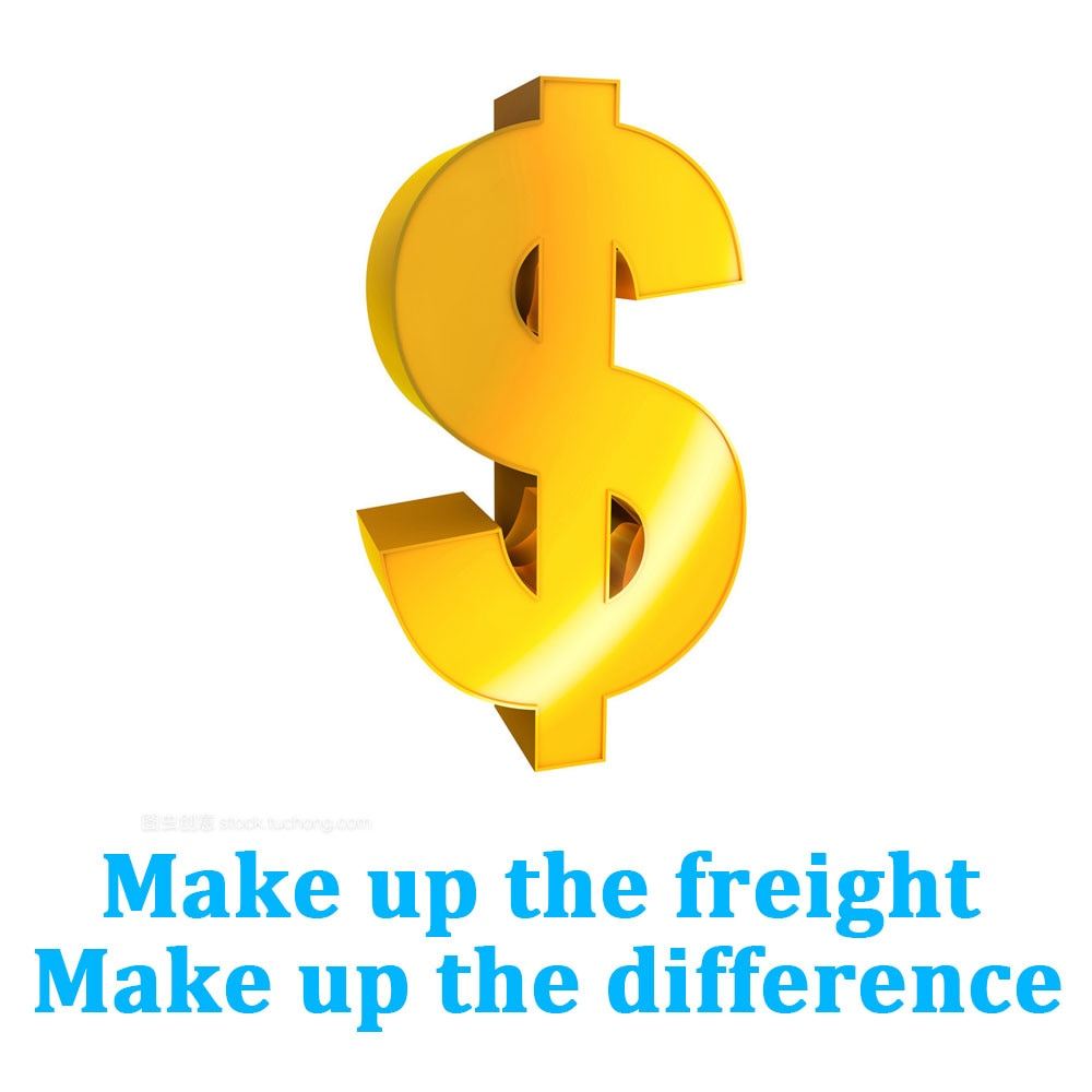 Make up the freight, make up the difference dedicated link