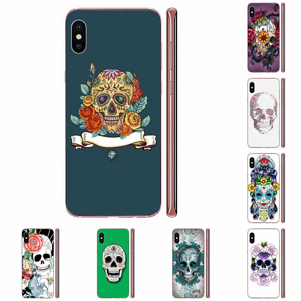 De azúcar cráneo silicona de colores para Samsung Galaxy Nota 10 pro Plus Lite 9 8 5 4 3 M60s M40 M30 M30S M20 M10 M10S