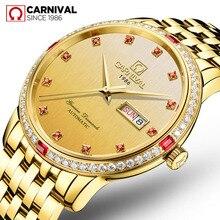 Relogio Masculino carnaval marque de luxe mode or mécanique montre-bracelet hommes étanche automatique montres horloge Reloj Hombre