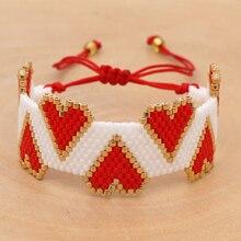 Go2boho Bracelet For Women Pulseras Mujer Moda 2019 Femme MIYUKI Heart Bracelets 3D Heart Jewelry Bohemian Hadndmade Loom Beads