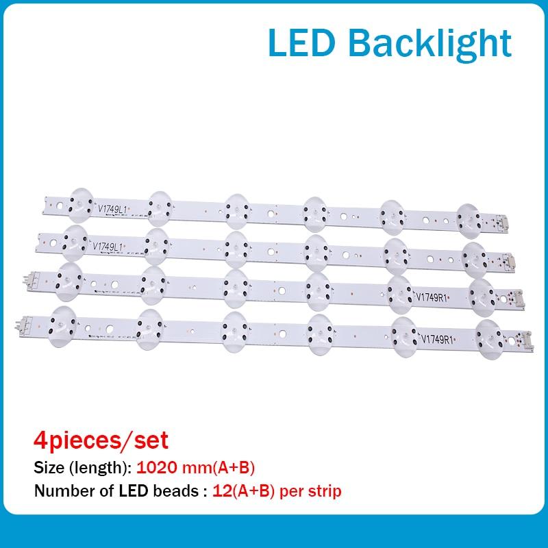LED شريط إضاءة خلفي 12 مصباح ل LG 49