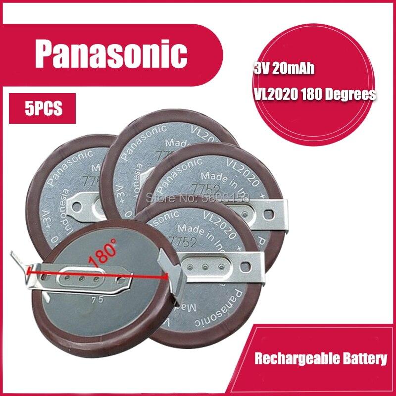 5 pièces/lot Panasonic VL2020 2020 batterie au lithium avec jambes 180 degrés pour clé de voiture BMW