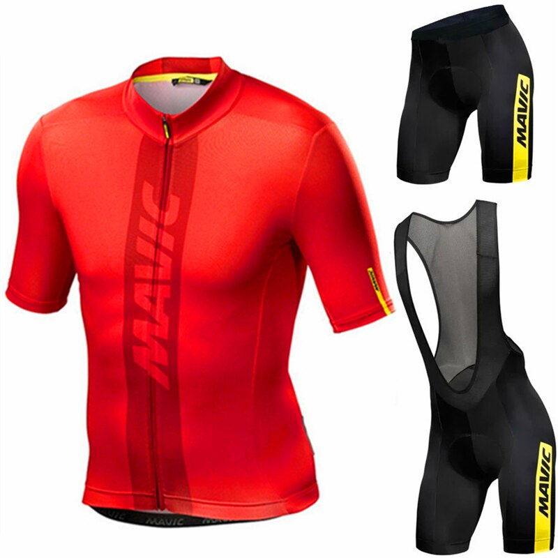 MAVIC-Conjunto de ropa de Ciclismo para hombre Maillot de manga corta para...