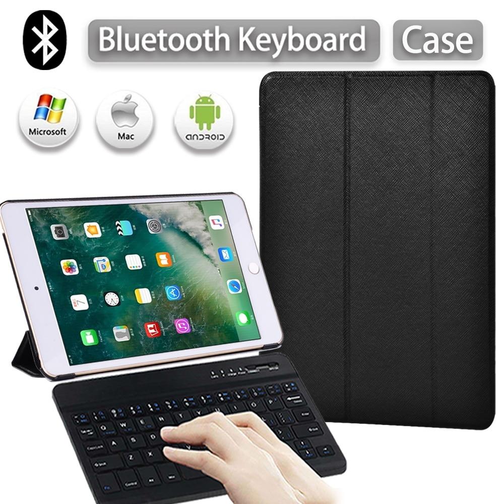 Tablet Case for Apple IPad Mini 1 2 3 4 5 7.9 Inch Adjustable Pu Leather Smart Sleep Wake Cover+Bluetooth Keyboard+Stylus