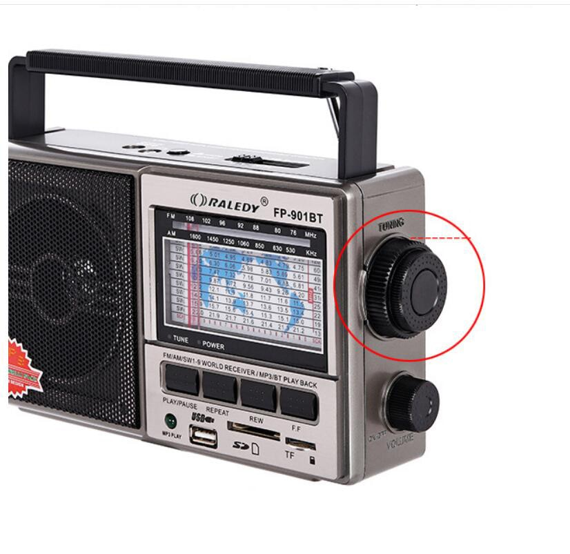 Portable multi band radio FM AMS W1-9 Bluetooth playback U disk SD card MP3 listen to songs broadcast retro speakers enlarge