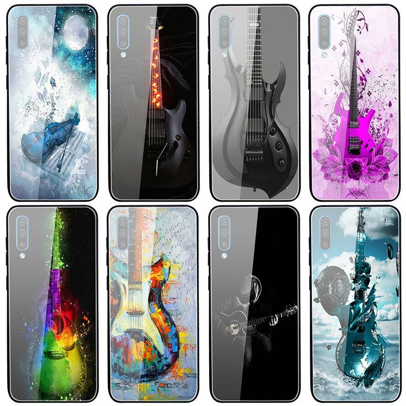 Funda de vidrio templado para Guitarra eléctrica, para Samsung Galaxy A10, A20,...