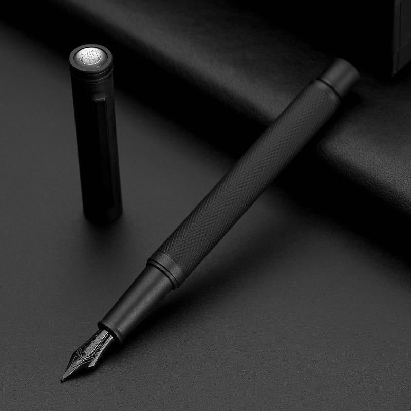 AliExpress - Hongdian Black Metal Fountain Pen Titanium Black EF/F/Bent Nib Beautiful Tree Texture Excellent Writing Gift for Business Office