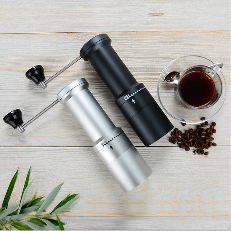 الألومنيوم دليل طاحونة القهوة الفولاذ المقاوم للصدأ لدغ طاحونة مخروطية القهوة الفول ميلر دليل آلة طحن القهوة