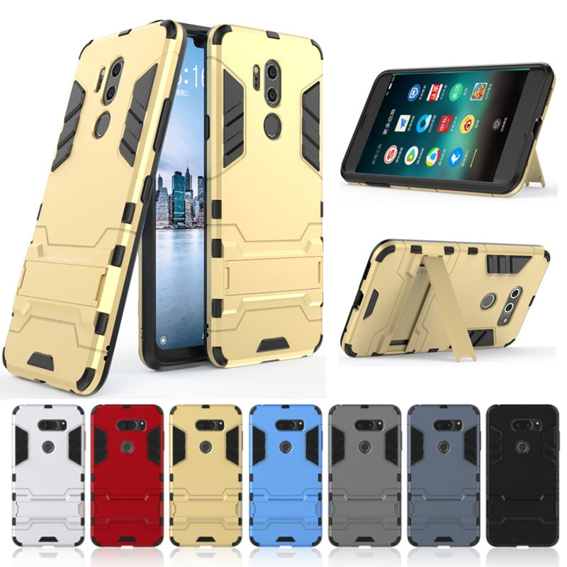 Homem De Ferro híbrido Stand Caso Capa Protetora Para LG G6 G7 K8 K10 K20 Plus Q6 Q8 V20 Pro V30 V30S V34 Stylo 3 4 5 LV5 H990N