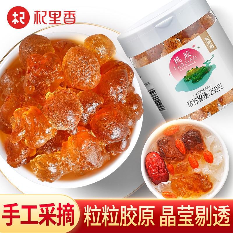 Peach glue 250g garrafa guizhou especialidade velha árvore pêssego cola natural flor de pêssego lágrima pêssego gordura