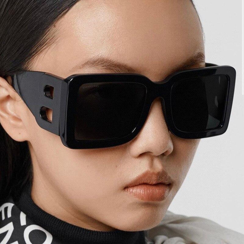 Солнцезащитные очки модные большие очки солнцезащитные очки для уличной съемки модные очки в-образной формы мужские солнцезащитные очки Р...