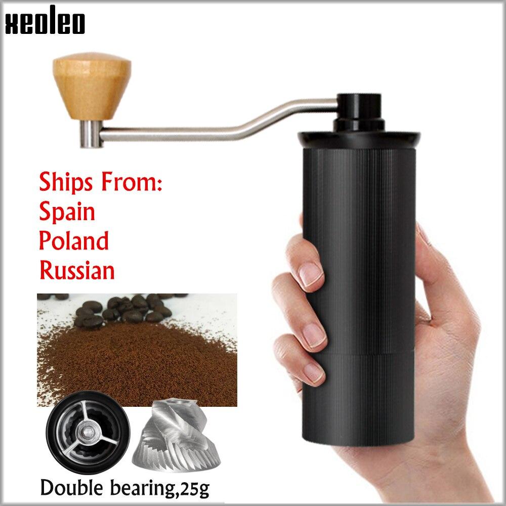 XEOLEO 50 مللي متر الألومنيوم دليل طاحونة القهوة الفولاذ المقاوم للصدأ لدغ طاحونة مخروطي القهوة الفول ميلر دليل آلة طحن القهوة