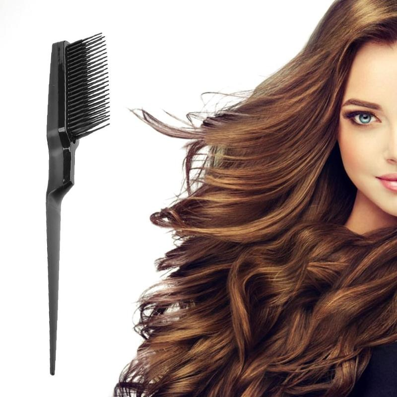 2017 hot sale straight hair comb professional artifacts 3 color 2 plugs electric straight hair fashion beauty styling tools use Hot Sale Fine-tooth Hairdressing Hair Styling Rat Tail Comb Black Plastic Fine-tooth Hair Comb Beauty Tools New