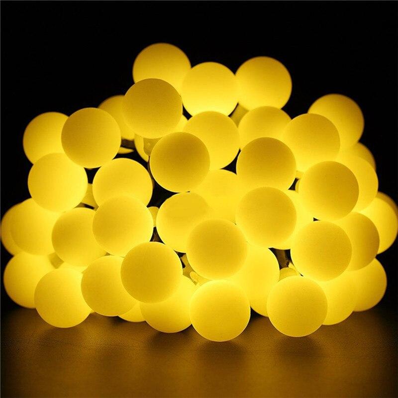 إكليل إضاءة كروي 4 م/6 م/10 م/20 م/30 م/50 م ، إكليل إضاءة الجنية ، زينة أكاليل الكريسماس للحفلات المنزلية والشارع