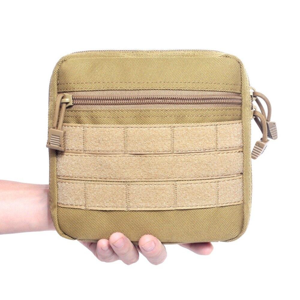 Bolsa táctica Molle Admin revistero utilidad EDC bolsa de herramientas Kit médico militar Paquete de cintura Camping senderismo caza accesorios bolsas