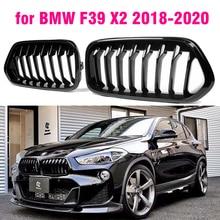 Parachoques de sustitución, rejilla de riñón, Todo negro para BMW F39 X2 M35i xDrive20d xDrive28i sDrive20i 2018 2019