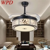 wpd ceiling fan light invisible lamp remote control modern elegance for home dining room bedroom restaurant