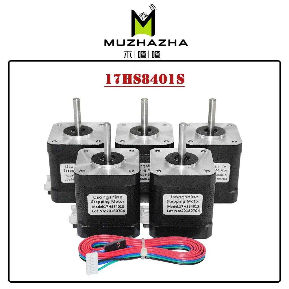 5 قطعة Nema 17 4 الرصاص محرك متدرج 42 موتور 17HS8401S 1.5A CE ROSH ISO التصنيع باستخدام الحاسب الآلي ليزر وطابعة ثلاثية الأبعاد