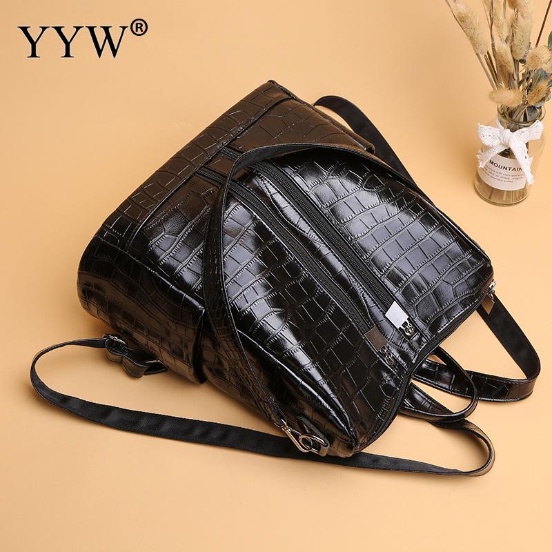 Рюкзак женский из экокожи, дизайнерский ранец для девушек