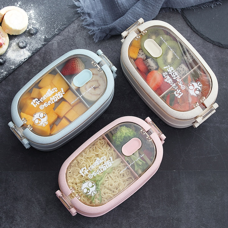 صندوق غداء فولاذ غير قابل للصدأ الإبداع الحراري صحي متعدد الطبقات صندوق الغداء نزهة وجبة خفيفة آمنة Fiambrera حاويات المطبخ DK50LB