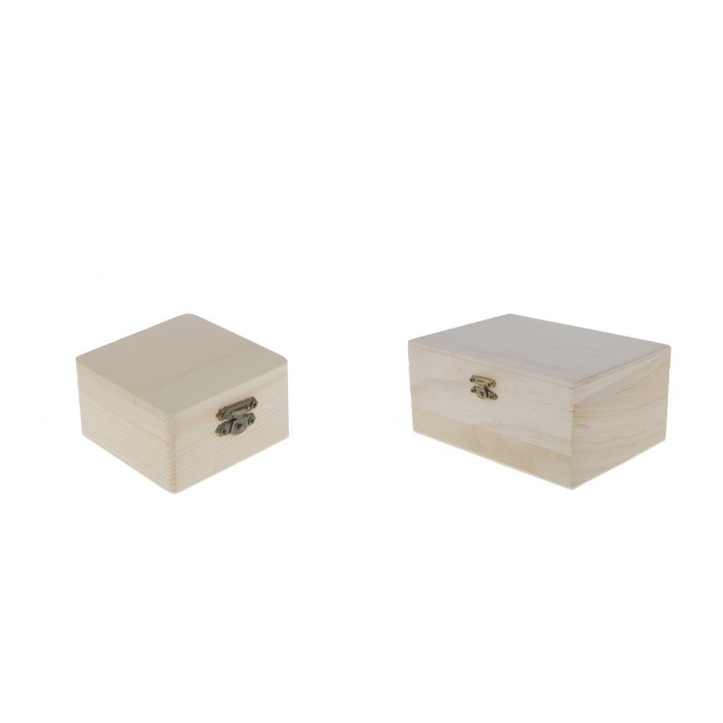 2 uds caja de madera organizador de almacenamiento de aceite esencial té bolsa Caddy joyero