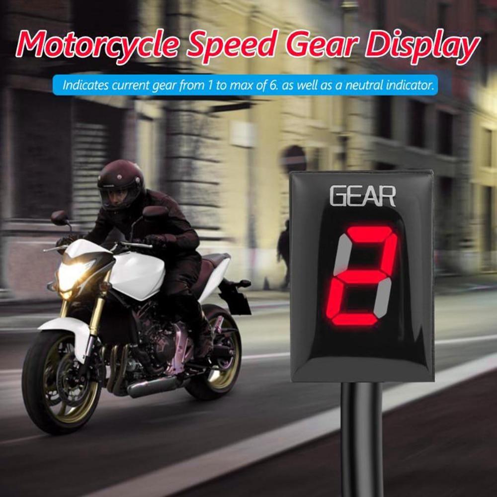 Indicador de marchas de velocidad LED de 1-6 niveles para motocicleta KKMOON, medidor de pantalla, soporte directo ECU para BMW S1000rr/G310R/G310RS