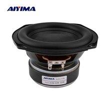 AIYIMA – haut-parleur Audio 5.25 pouces, 2 Ohm, 80W, caisson de basses, bord en caoutchouc, longue course, bricolage, bibliothèque de cinéma à domicile