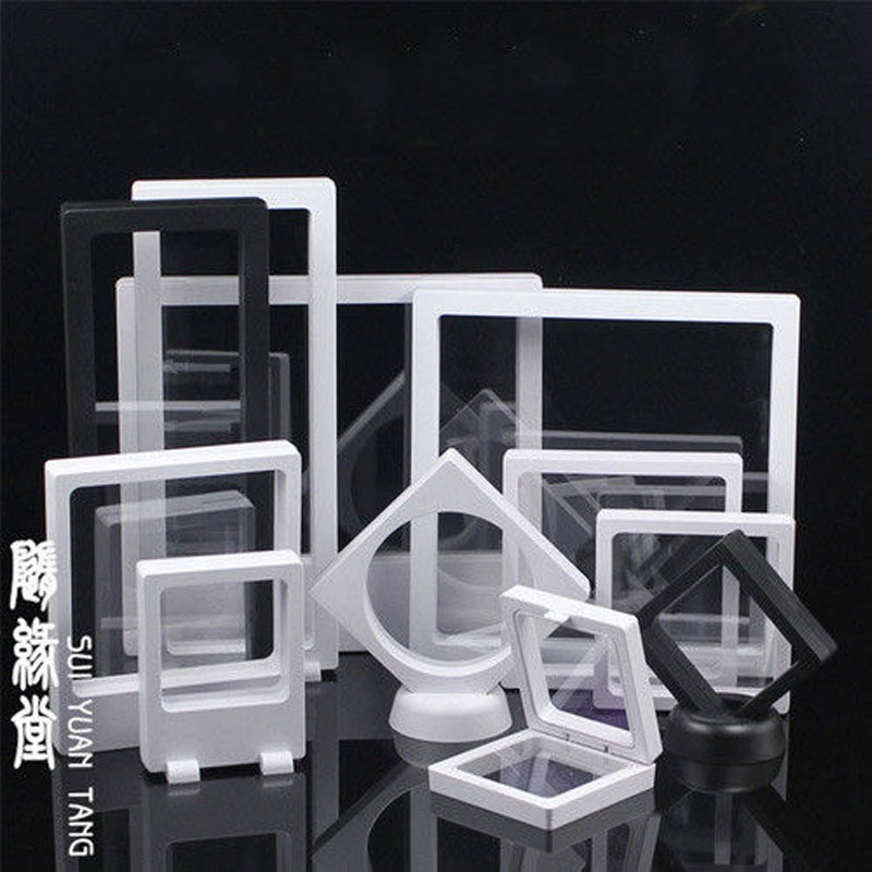Clear Jewelry Suspended Coins Floating Display Case Stand Holder Box Pretty Shelves Holder for Speci